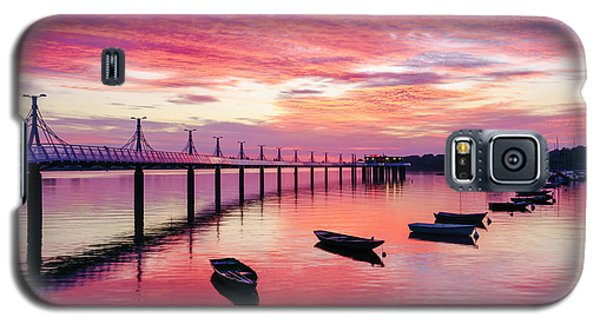 Pier, Boats And Red Sunset Galaxy S5 Case by Dmytro Korol