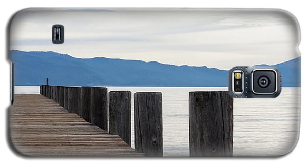 Galaxy S5 Case featuring the photograph Pier On The Lake by Ana V Ramirez