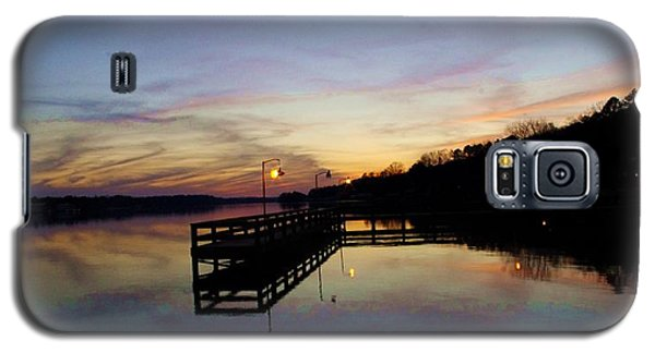 Pier Silhouetted In The Sunset On The Coosa River Galaxy S5 Case