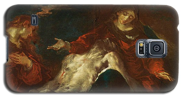 Galaxy S5 Case featuring the painting Pieta With Mary Magdalene by Giuseppe Bazzani
