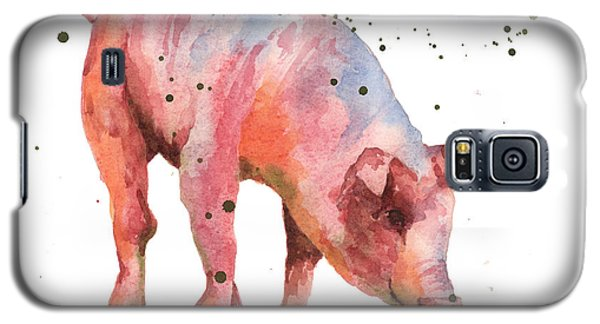 Pig Painting Galaxy S5 Case by Alison Fennell
