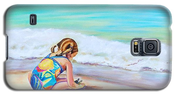 Galaxy S5 Case featuring the painting Pigtail Cutie by Patricia Piffath