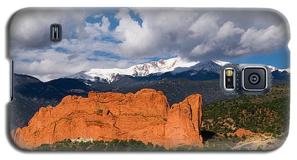 Pikes Peak And Garden Of The Gods Panoramic Galaxy S5 Case