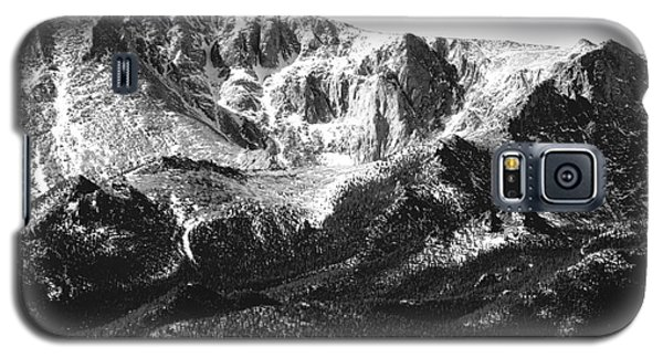 Pikes Peak Black And White In Wintertime Galaxy S5 Case