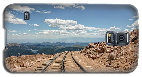 Galaxy S5 Case featuring the photograph Pikes Peak Cog Railway Track At 14,110 Feet by Peter Ciro