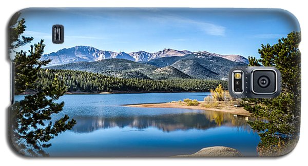 Pikes Peak Over Crystal Lake Galaxy S5 Case