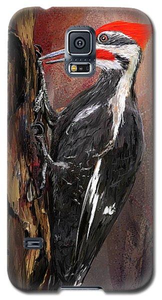 Pileated Woodpecker Art Galaxy S5 Case by Lourry Legarde