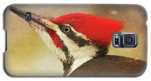 Galaxy S5 Case featuring the photograph Pileated Woodpecker With Snowfall by Heidi Hermes