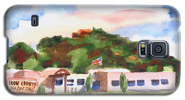 Galaxy S5 Case featuring the painting Pilot Knob Mountain W401  by Kip DeVore