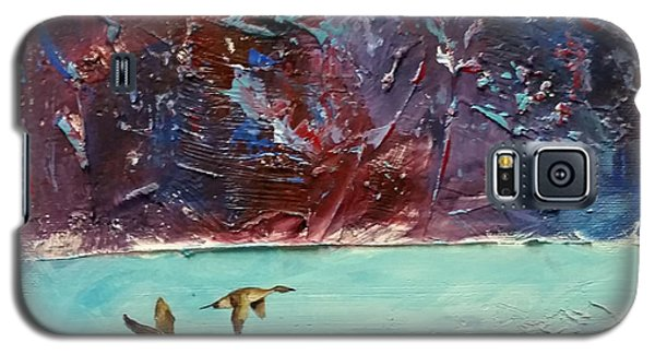 Galaxy S5 Case featuring the painting Pin Tails by David  Maynard