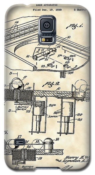 Pinball Machine Patent 1939 - Vintage Galaxy S5 Case by Stephen Younts