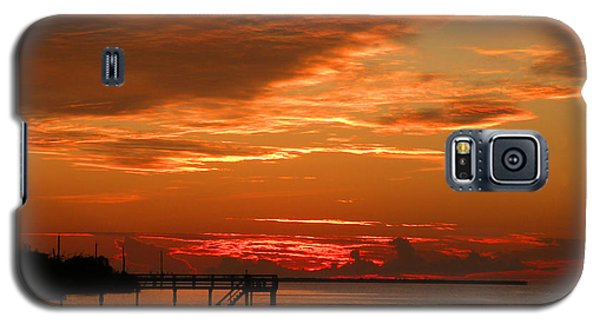 Galaxy S5 Case featuring the photograph Pine Island Sunset by Rosalie Scanlon