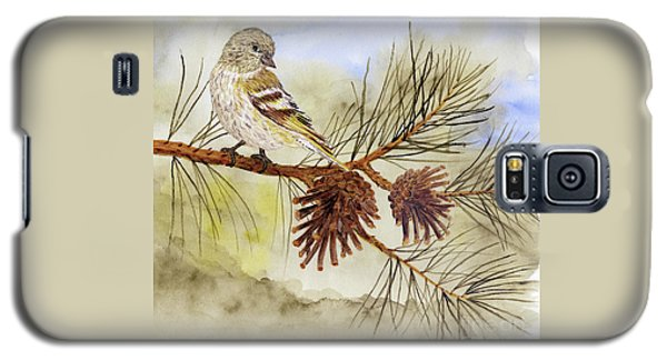 Pine Siskin Among The Pinecones Galaxy S5 Case