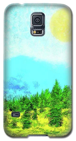 Pine Tree Mountain Blue - Shasta California Galaxy S5 Case