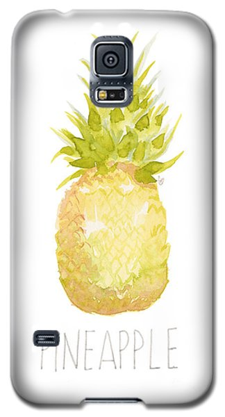 Galaxy S5 Case featuring the painting Pineapple by Cindy Garber Iverson