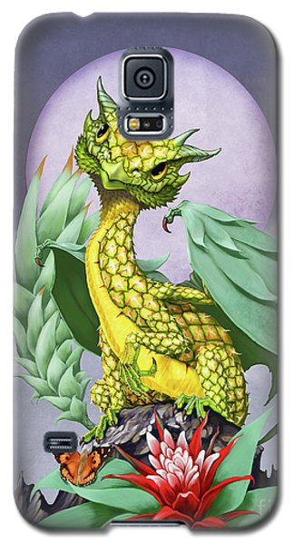 Galaxy S5 Case featuring the digital art Pineapple Dragon by Stanley Morrison