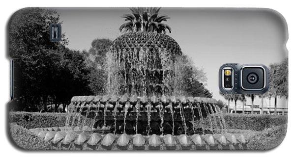 Pineapple Fountain Charleston Sc Black And White Galaxy S5 Case