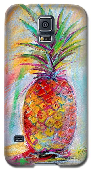 Galaxy S5 Case featuring the painting Pineapple Mixed Media Painting by Ginette Callaway