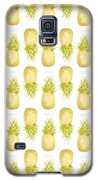 Galaxy S5 Case featuring the painting Pineapple Print by Cindy Garber Iverson