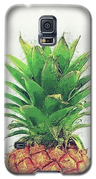 Pineapple Galaxy S5 Case by Taylan Apukovska