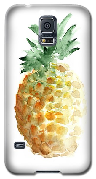 Pineapple Watercolor Minimalist Painting Galaxy S5 Case by Joanna Szmerdt