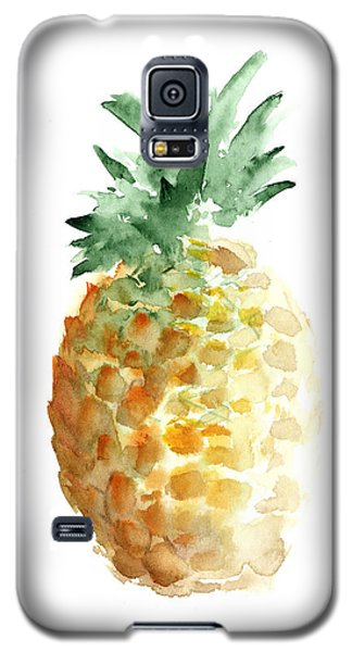 Pineapple Watercolor Minimalist Painting Galaxy S5 Case