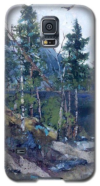 Galaxy S5 Case featuring the painting Pinelake  by Helen Harris