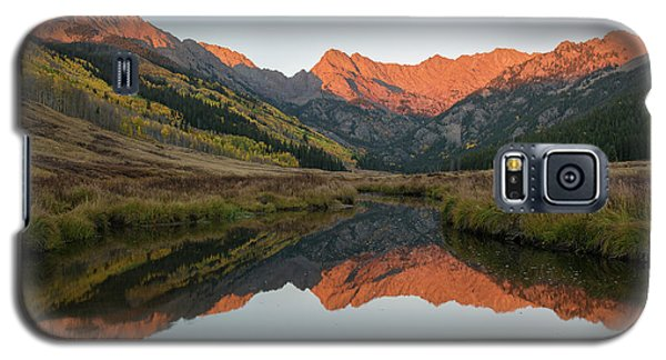 Galaxy S5 Case featuring the photograph Piney River Autumn Sunrise by Aaron Spong