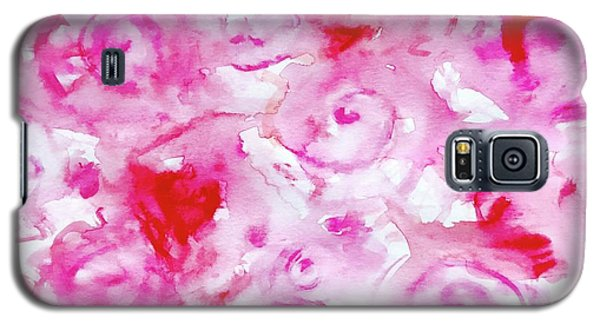 Pink Abstract Floral Galaxy S5 Case