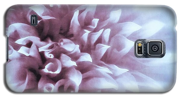Pink And Blue Dahlia Galaxy S5 Case