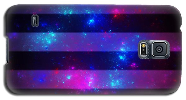 Pink And Blue Striped Galaxy Galaxy S5 Case
