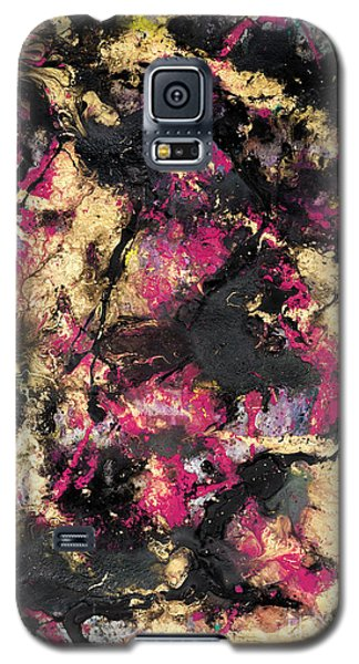 Pink And Gold Merge Galaxy S5 Case