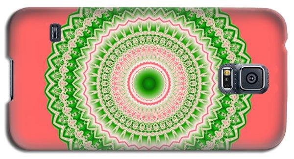 Pink And Green Mandala Fractal 002 Galaxy S5 Case
