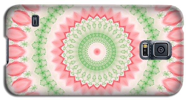 Pink And Green Mandala Fractal 003 Galaxy S5 Case