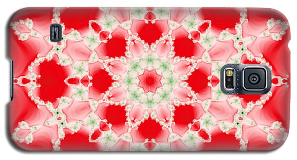 Pink And Green Watercolor Snowflake Fractal Galaxy S5 Case