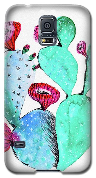 Pink And Teal Cactus Galaxy S5 Case