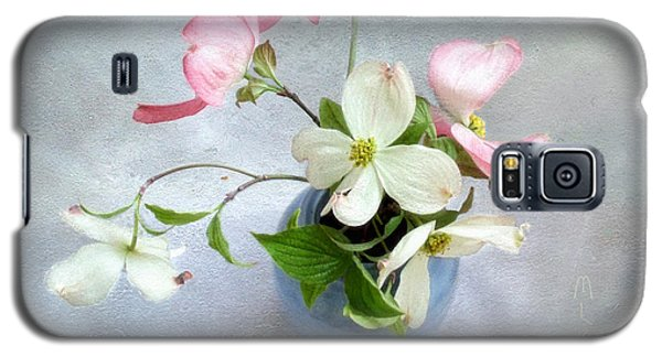 Pink And White Dogwood Still Galaxy S5 Case by Louise Kumpf