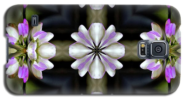 Pink And White Flowers Abstract Galaxy S5 Case