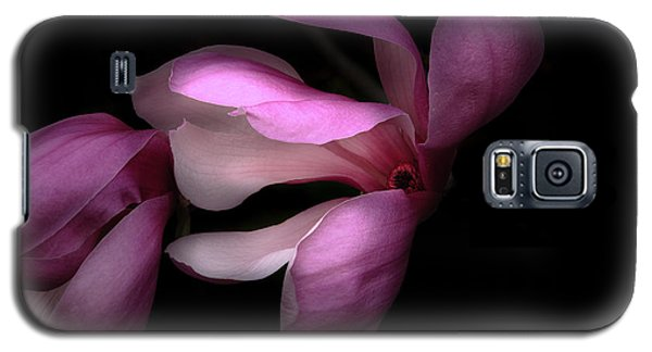 Pink And White Magnolia In Silhouette Galaxy S5 Case