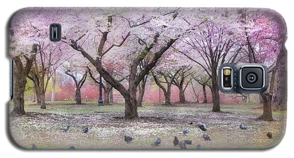 Galaxy S5 Case featuring the photograph Pink And White Spring Blossoms - Boston Common by Joann Vitali