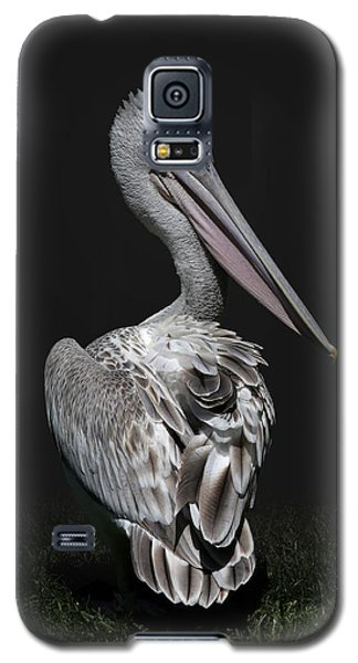 Pink-backed Pelican Rear View Galaxy S5 Case