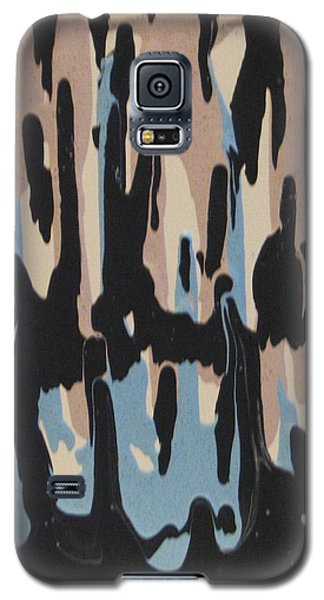 Pink Blue And Brown Drips Galaxy S5 Case
