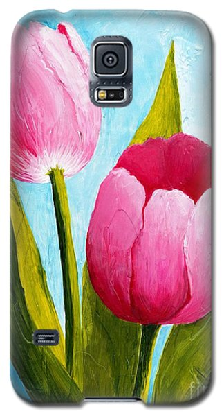 Pink Bubblegum Tulip II Galaxy S5 Case