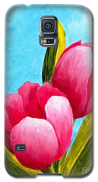 Pink Bubblegum Tulips I Galaxy S5 Case