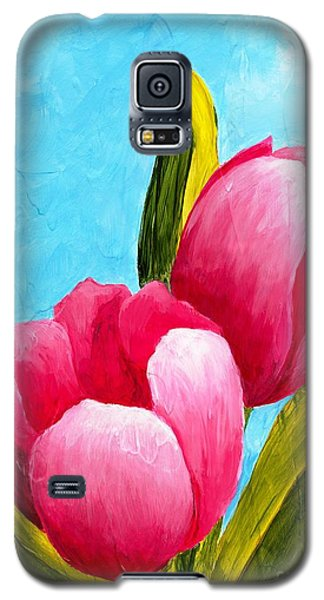 Pink Bubblegum Tulips I Galaxy S5 Case by Phyllis Howard