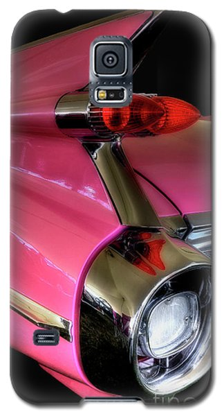 Galaxy S5 Case featuring the photograph Pink Cadillac Blackout by Trey Foerster