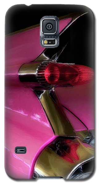 Pink Cadillac Galaxy S5 Case by Trey Foerster