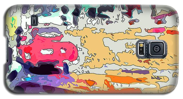 Pink Car Urban Graffiti Galaxy S5 Case