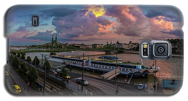 Pink Clouds Above The Danube, Budapest Galaxy S5 Case