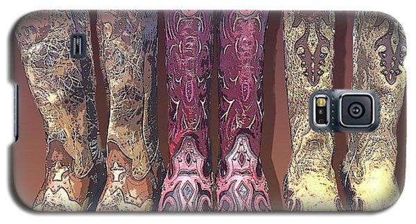 Pink Cowboy Boots Galaxy S5 Case
